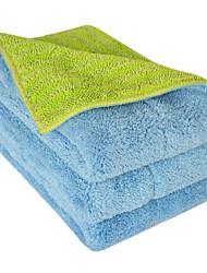 "Sinland Push Stick Cleaner Multi-use Microfiber Towels & Pads Flip Mop Refill Mop Towels 11""x14.9"" Blue/Lime Green 3 Pcs"
