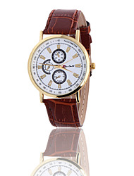 2016 high quality men's crazy burst Rome three six-pin watch Ms. leisure common bamboo grain leather watch Cool Watches Unique Watches