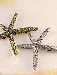 South Korea  Sell Like Hot Cakes Starfish  Retro Metal Hair Clips