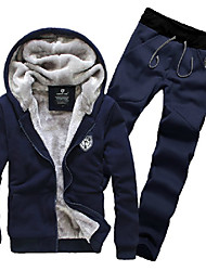 Men's Hoodie / Mid Rise Suits , Cotton Long Sleeve Casual Fashion Winter / Fall Jeoneu