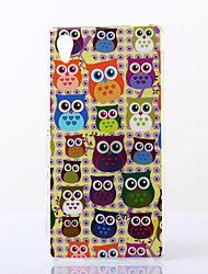 Yellow Background Owls Pattern TPU Soft Case for Sony M4