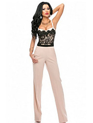 Women's Sweetheart Lace Top Trendy Jumpsuit