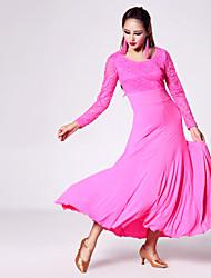 Moderner Tanz-Kleider(Fuchsie / Grün / Purpur,Spitzen / Milchfieber,Moderner Tanz) - fürDamen Kleid Lange Ärmel