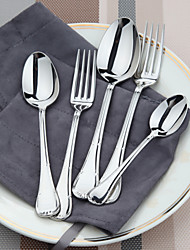 dongjin®sweet conjunto 10pc viaje cucharada * 2 + tablefork * 2 + dessertspoon * 2 + dessertfork * 2 + 2 cucharadita * 18 /
