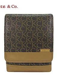 Kate & Co.® Femme PVC Sac à Bandoulière Gris - TH-02134