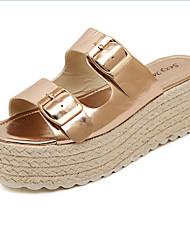 Women's Shoes Synthetic Wedge Heel Comfort Sandals Outdoor Silver/Gold