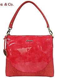 Kate & Co.® Women PVC Shoulder Bag Yellow / Red - TS-00142
