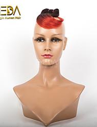 buone 1pcs economici / set ombre capelli umani del tessuto bagnato ombre ondulato 2 tonalità di colore # 1b / rosso 8inch 6 colori