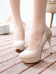 Women's Shoes Glitter/Leatherette Stiletto Heels/Closed Toe Heels Wedding/Office&Career/Party&Evening/Dress/Casual