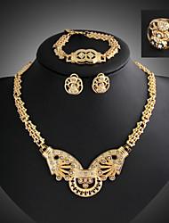 Vintage / Party / Freizeit - Damen - Halskette / Ohrring / Armband / Ring (Legierung / Zirkonia)