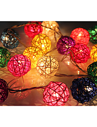 YouOkLight® 4M 20LEDs RGB LED Rattan Ball String Light Christmas String Light For Decoration (AC 110-220V)