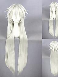 40inch longa reta touken Ranbu on-line kogitsunemaru prateadas branco anime cosplay wigcs-231o