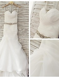 Trumpet/Mermaid Wedding Dress - Ivory Sweep/Brush Train Sweetheart Organza