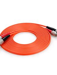 Shengwei®  FC(UPC)-FC(UPC) Multimode Double Core Fiber Patch Cord 3M/5M/10M
