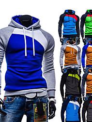 Pulls & Hoodies ( Coton / Viscose ) Informel / Travail Sweat à capuche / Col roulé à Manches longues pour Homme
