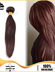3pcs Brazilian Hair Bundles Weaves Chocolate Brown Silky Straight Hair Weft 100% Unprocessed Brazilian Human Hair Weft