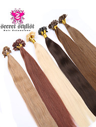 "Brazilian Virgin Human Keratin Hair Extension Pre-Bonded Nail Hair U Tip Hair 20"" 100G/PC 1Pc/Lot In Stock"