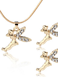 MICHLEY Angel Necklace Earrings Set