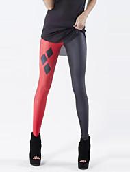 Для женщин С принтами Legging,Хлопок Полиэстер Ткань средней плотности