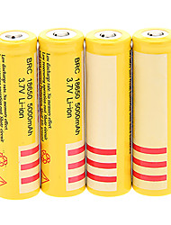 BRC 5000mAh 18650 Battery (4pcs) + 4 Pcs/Lot Hard Plastic Battery Storage Box for 18650 Battery