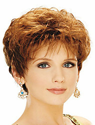 Capless Mix Color Extra Short High Quality  Curly Hair Synthetic Wig
