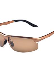 Sunglasses Men / Women / Unisex's Classic / Lightweight / Sports / Polarized Wrap Black / Silver / Gold / Gray Sunglasses Half-Rim