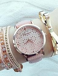reloj de pulsera de cuarzo hueco margarita ver mujeres