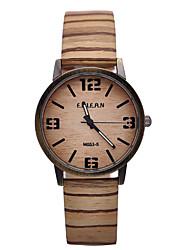 simulation des hommes de quartz montres en bois bois de bois de montre bracelet en cuir de couleur occasionnels montre-bracelet masculin