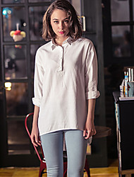Camicia Da donna Retato Colletto Manica lunga Cotone