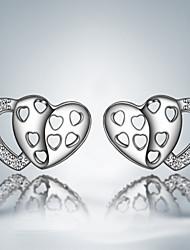 de mayor venta pendiente de plata ocasional chapados aretes aretes de moda para las mujeres