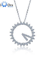 2015 New Key Accessories Brand 925 Sterling Silver Women Fashion Cubic Zirconia Necklaces & Pendants
