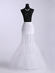 Slips Mermaid and Trumpet Gown Slip Floor-length 3 Tulle Netting Polyester White