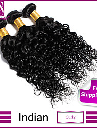 "8""-30"" Black Indian Curly Hair Weave 3Pcs/Lot 100% Unprocessed Indian Virgin Curly Hair"