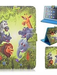 adorable animal totem autour ouverte avec le stand étui protecteur pour iPad 4/3/2