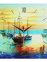 Reloj de pared - Vidrio/Madera - Moderno/Contemporáneo - Vidrio/Madera