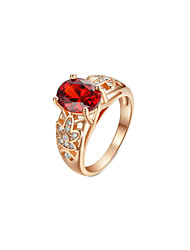 Ring Women's Cubic Zirconia Alloy Alloy 8 Gold
