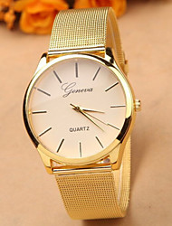 Gold Watch Full Stainless Steel Woman Fashion Dress Watches New Brand Name Geneva Quartz Watch Best Quality