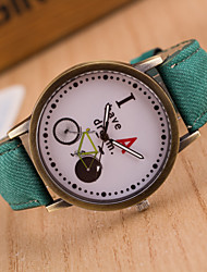 Reloj Mujer Colorful Jeans Bicycle Pattern Check strap Originality Dial Wristwatch Students Quartz Casual  Wristwatch