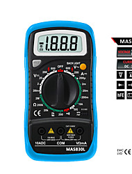 Bside Mas830l 2000 Counts Small Handheld Digital Multimeter With Backlight And Case For Protection