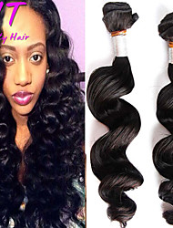 "1Pcs/Lot 8""-26"" Brazilian Virgin Hair Color #1B Loose Wave Human Hair Weaves Hot Sale"