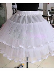 Slips Ball Gown Slip Knee-Length 2 Tulle Netting White