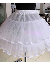 Unterhosen Abendkleid Knielänge 2 Tülle Weiß