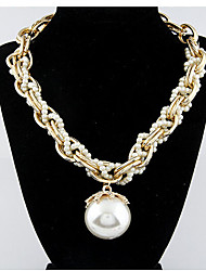 MPL Fashion pearl pendant chain necklace thick multilayer petals