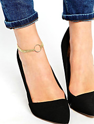 Women's Multilayer Circle Metal Chain Anklet