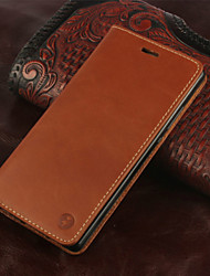 For Huawei Case / P8 Card Holder / Flip Case Full Body Case Solid Color Hard Genuine Leather Huawei Huawei P8