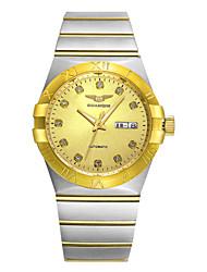 GUANQIN® Top Grade Men Swiss Automatic Self-wind Waterproof Watch Sapphire Steel Luxury Gold-plated Business Wrist Watch Cool Watch With Watch Box