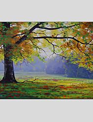 Pintada a mano Floral/BotánicoModern / Estilo europeo Un Panel Lienzos Pintura al óleo pintada a colgar For Decoración hogareña