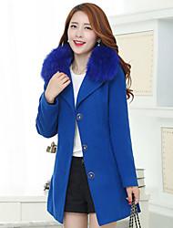 Women's Big Fur Coat Slim Girl