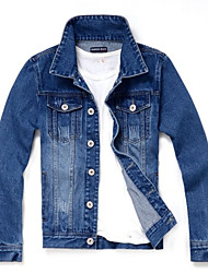 Men Pure Washing Vintage Denim jacket
