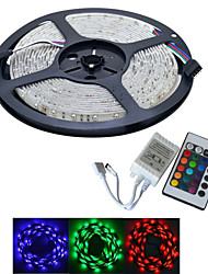 JIAWEN® 5 M 300 3528 SMD RGB Accorciabile / Collagabile 25 W Strisce luminose LED flessibili DC12 V